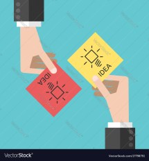 Hands Sharing Ideas Royalty Free Vector - Vectorstock