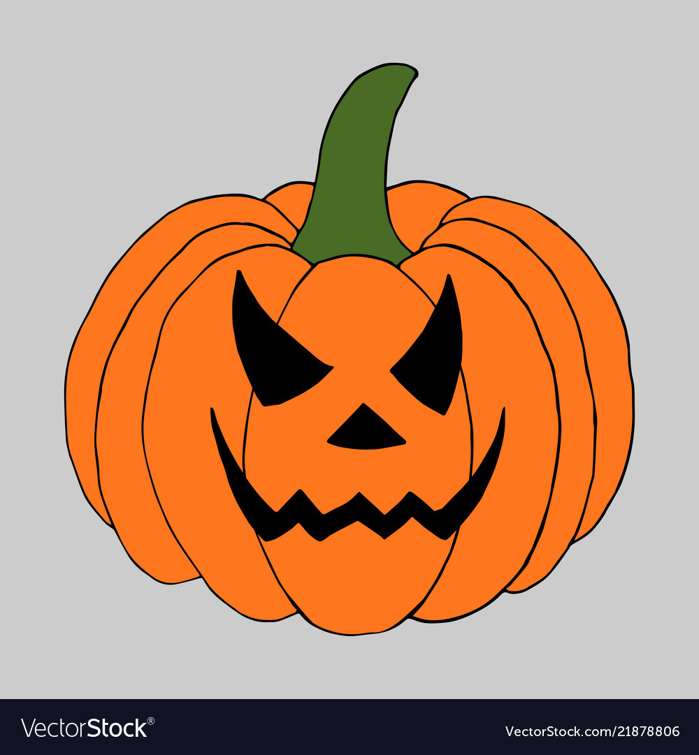 pumpkin with scary face