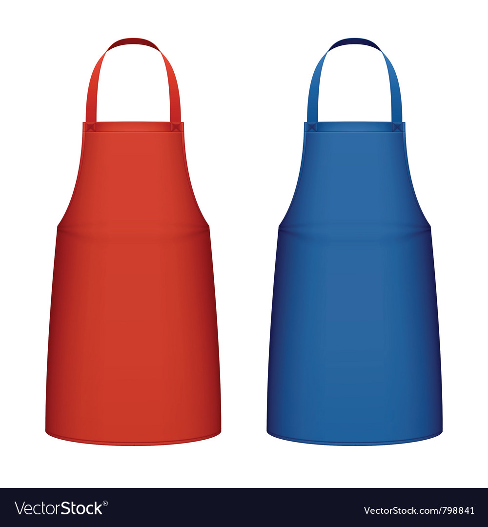 kitchen aprons lighting above table apron royalty free vector image vectorstock