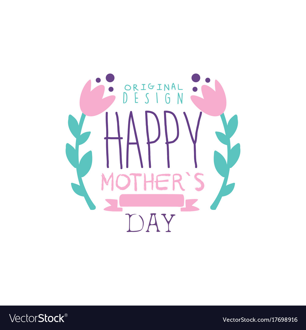 happy mothers day logo