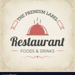 Retro Restaurant Logo Design Royalty Free Vector Image