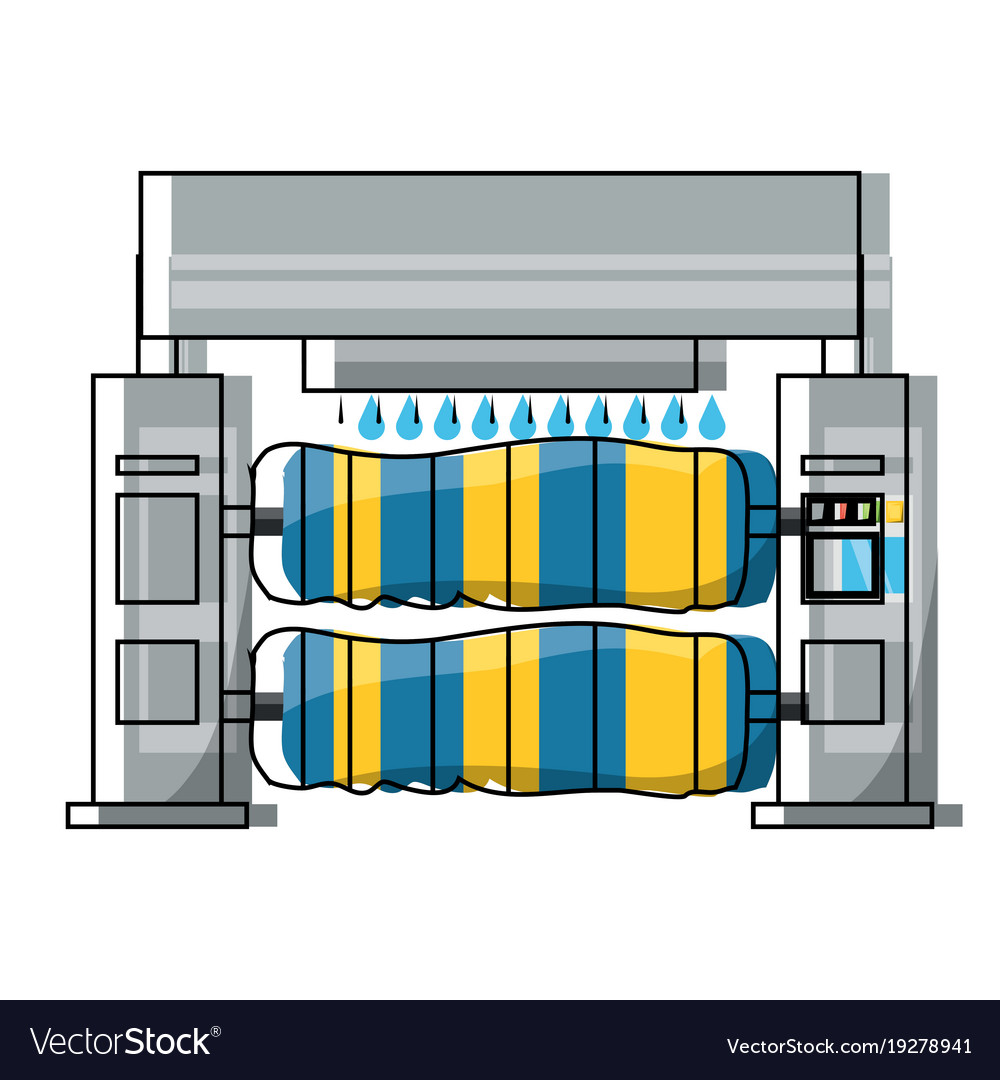 hight resolution of car wash machine icon vector image