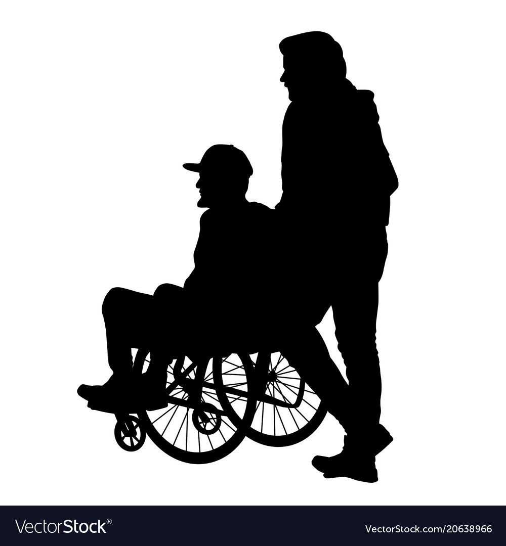 wheelchair man swivel xl chair in a royalty free vector image vectorstock