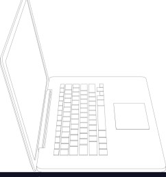 drawing of wire frame open laptop vector image [ 915 x 1080 Pixel ]