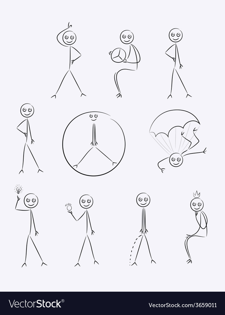 hight resolution of outline sketch cartoon vector image
