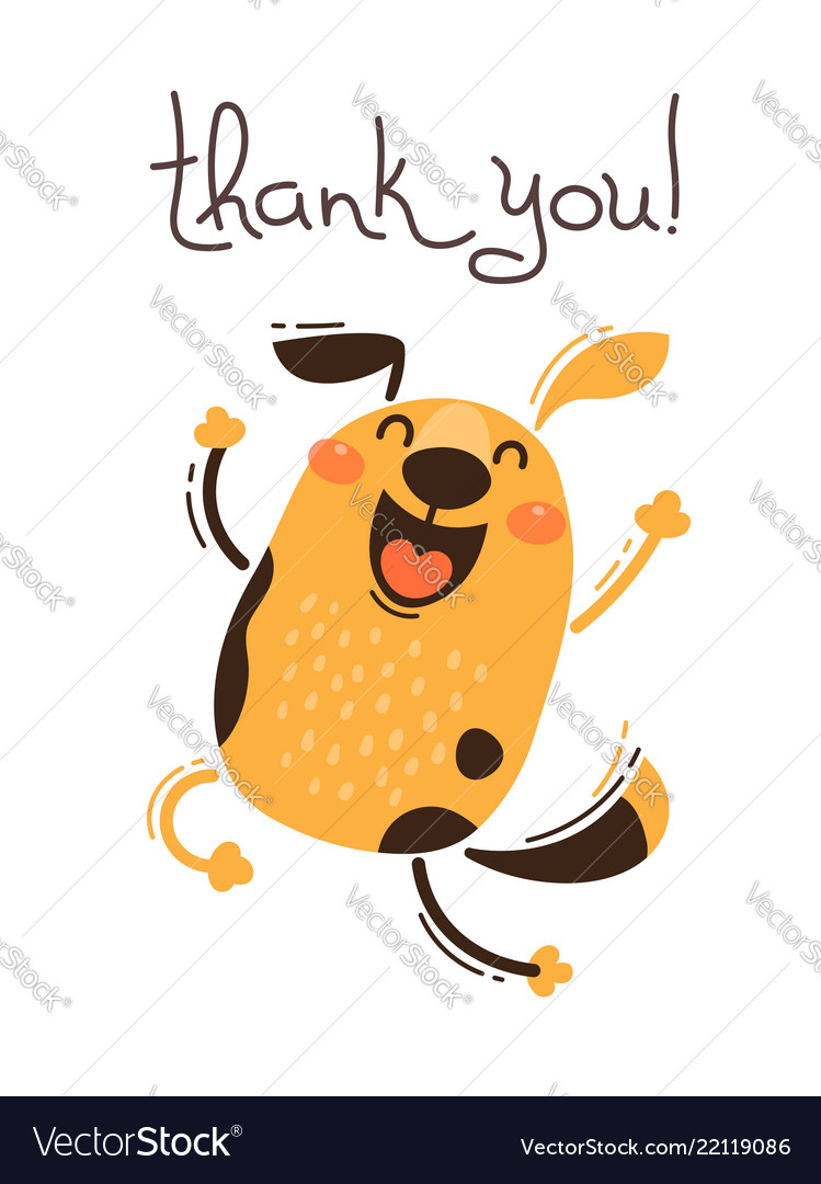Thank You Dog Funny : thank, funny, Funny, Thank, Royalty, Vector, Image