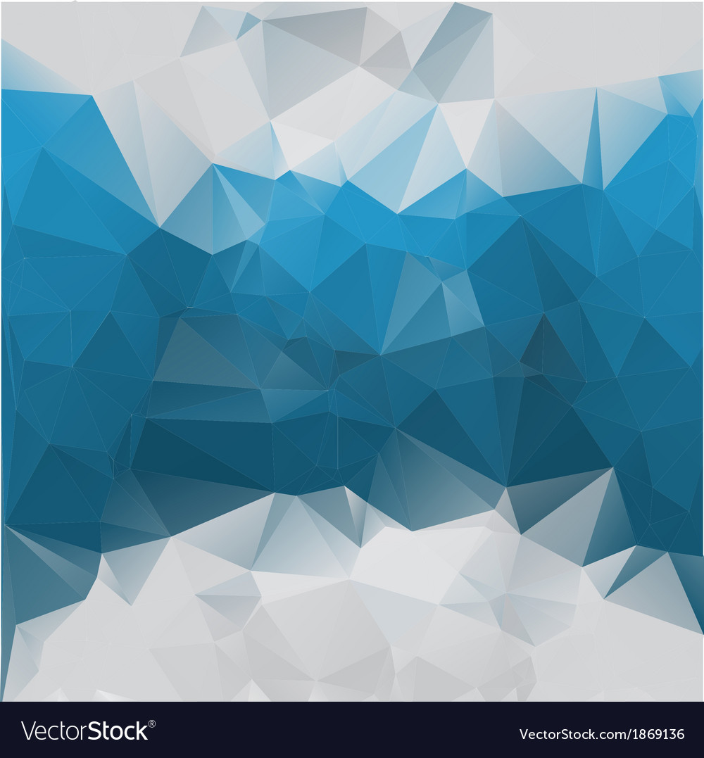 Bluegray background polygonal Royalty Free Vector Image