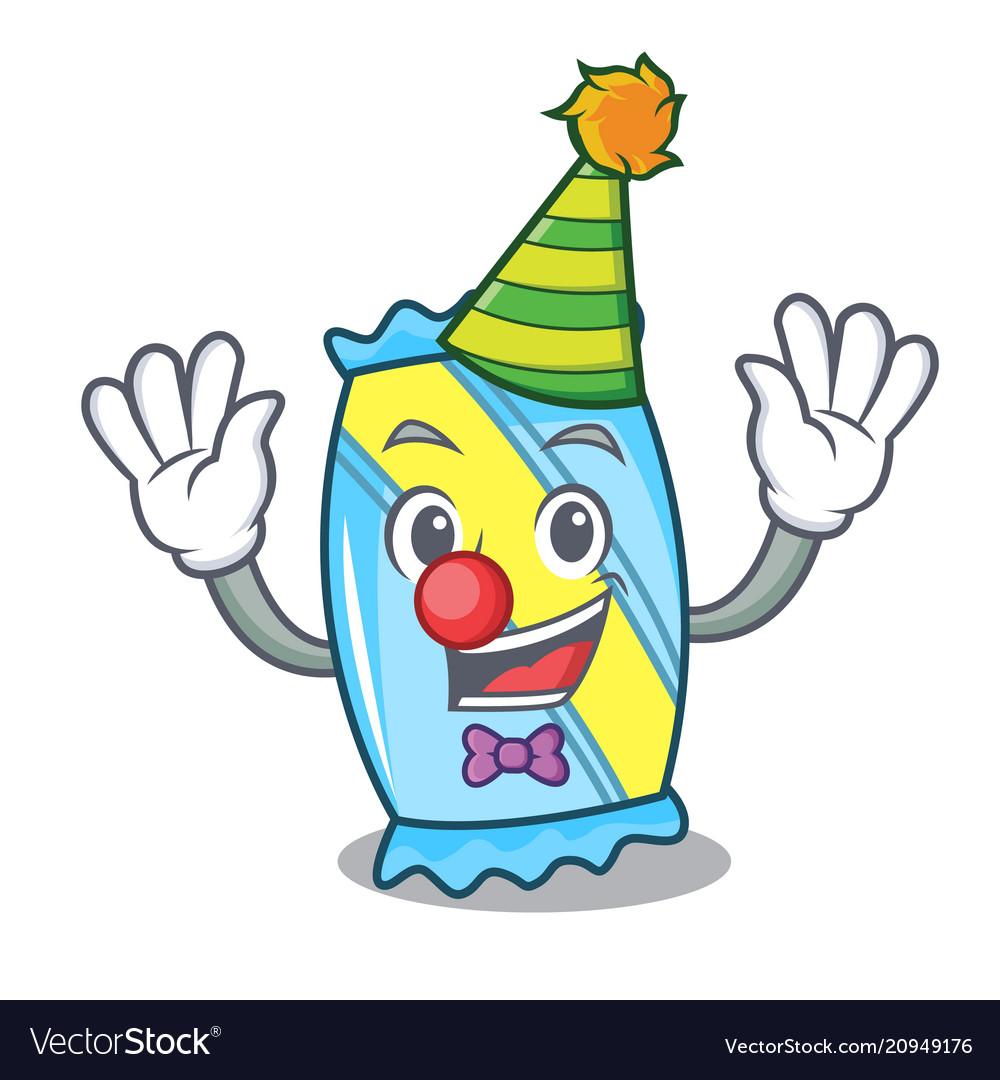 clown candy mascot cartoon