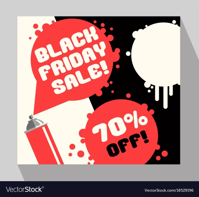 Black friday sale banner with spray paint Vector Image
