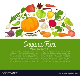 organic food poster background vegetables template vector