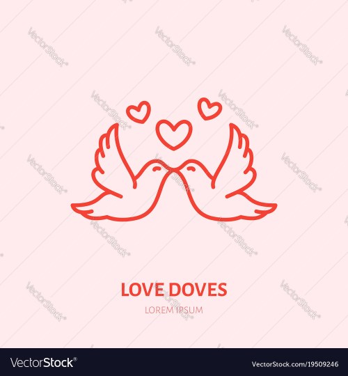 small resolution of kissing doves two flying birds in vector image