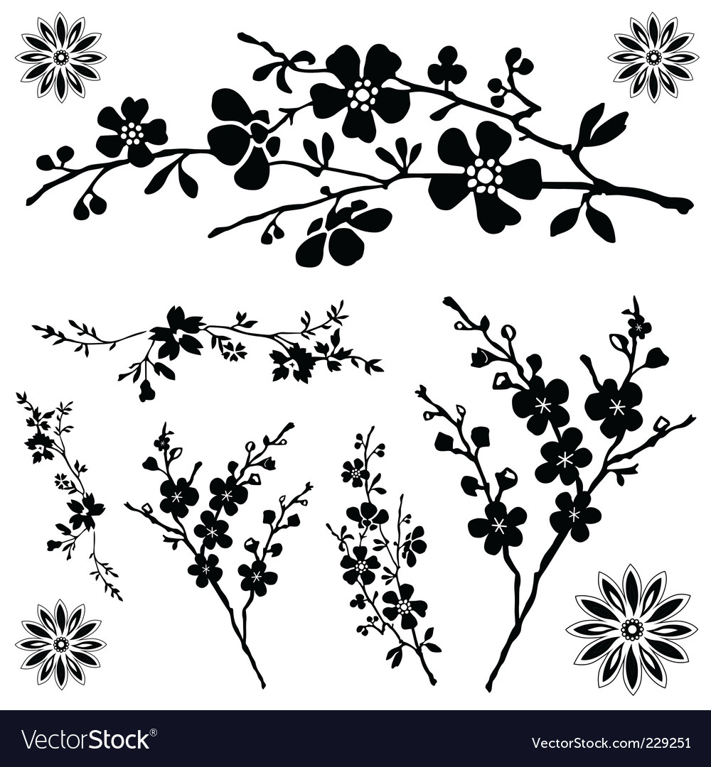 flower ornaments royalty free