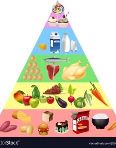 Food pyramid chart vector image also royalty free vectorstock rh