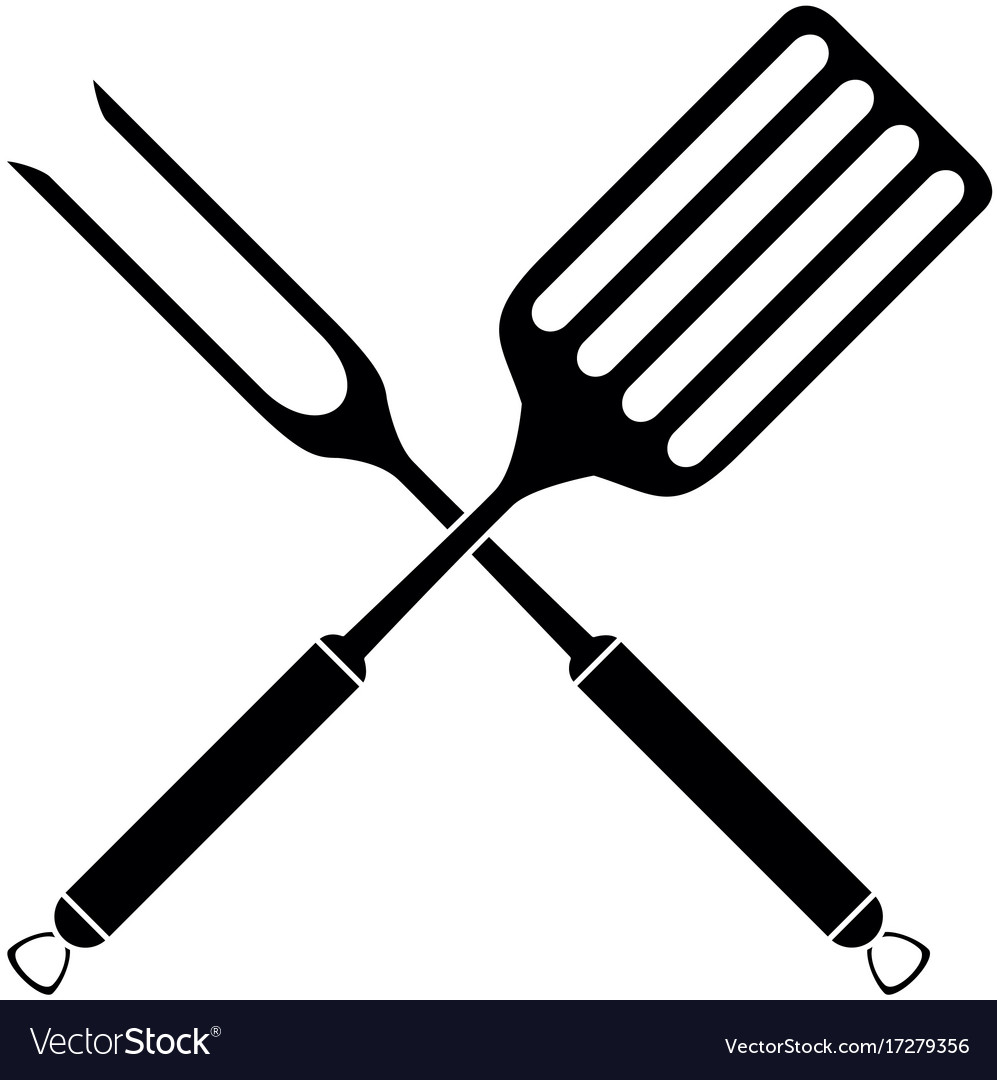 kitchen spatula design and remodeling fork cutlery icon royalty free vector image