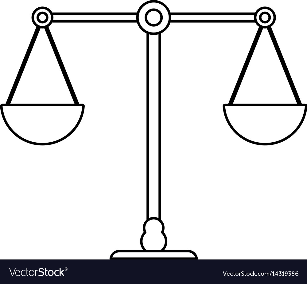 scale weight balance outline