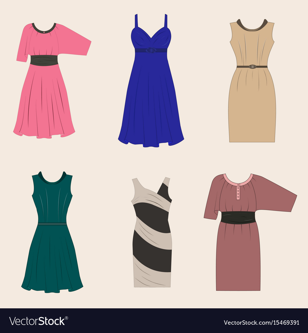 set of different styles