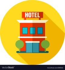 Hotel Icon Summer Vacation Royalty Free Vector