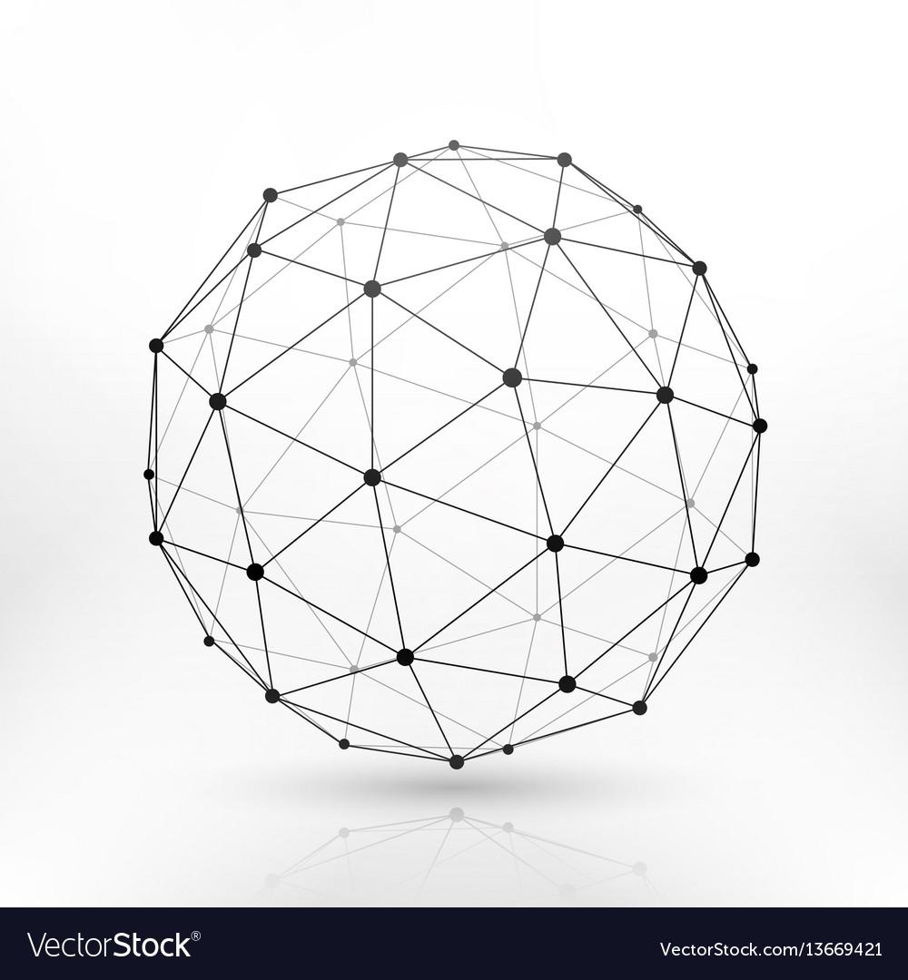 wireframe globe sphere connectivity