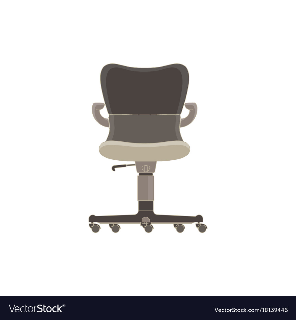 office chair illustration pink leather flat icon isolated furniture side vector image