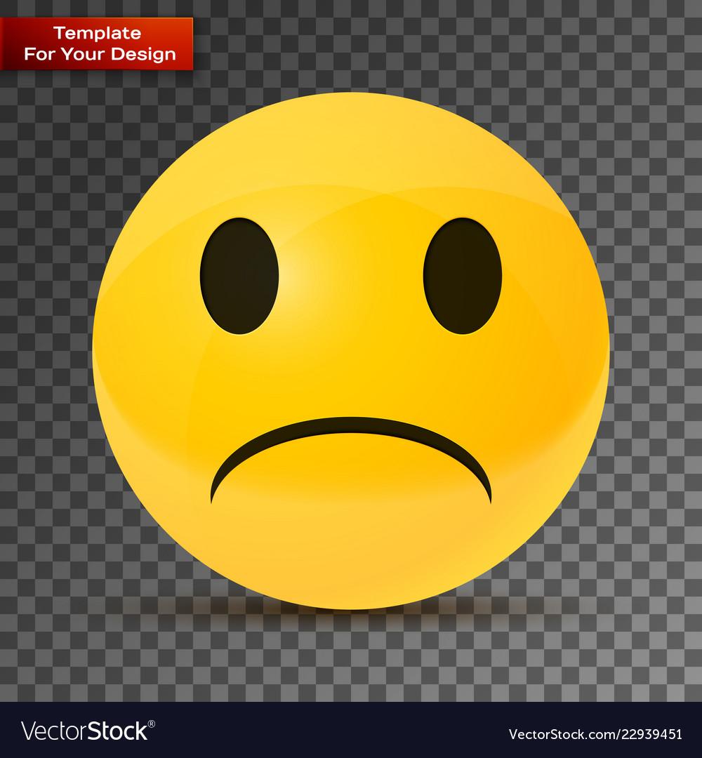 yellow sad face on