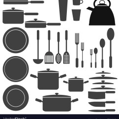 Kitchen Utensils Towels Wholesale Set Of Royalty Free Vector Image