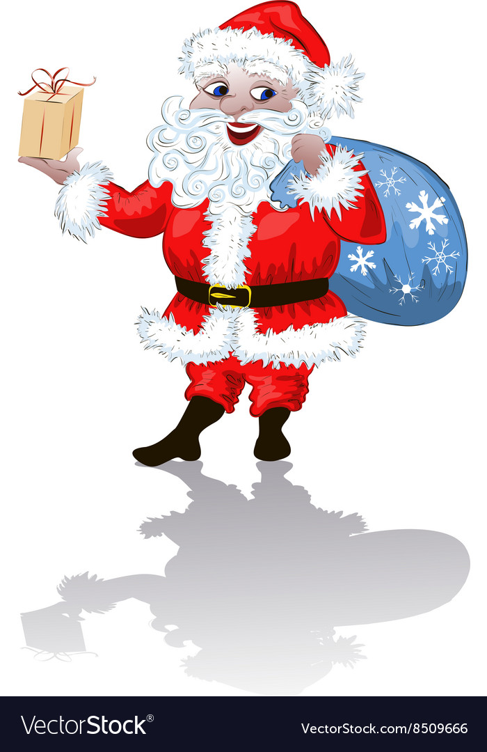 Father Christmas Cartoon Images : father, christmas, cartoon, images, Father, Christmas, Cartoon, Royalty, Vector, Image