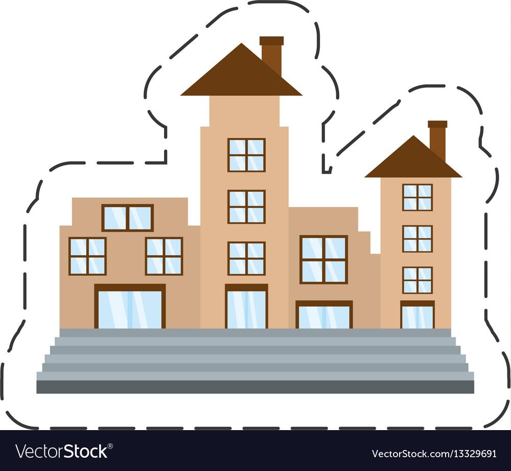 cartoon real estate apartment