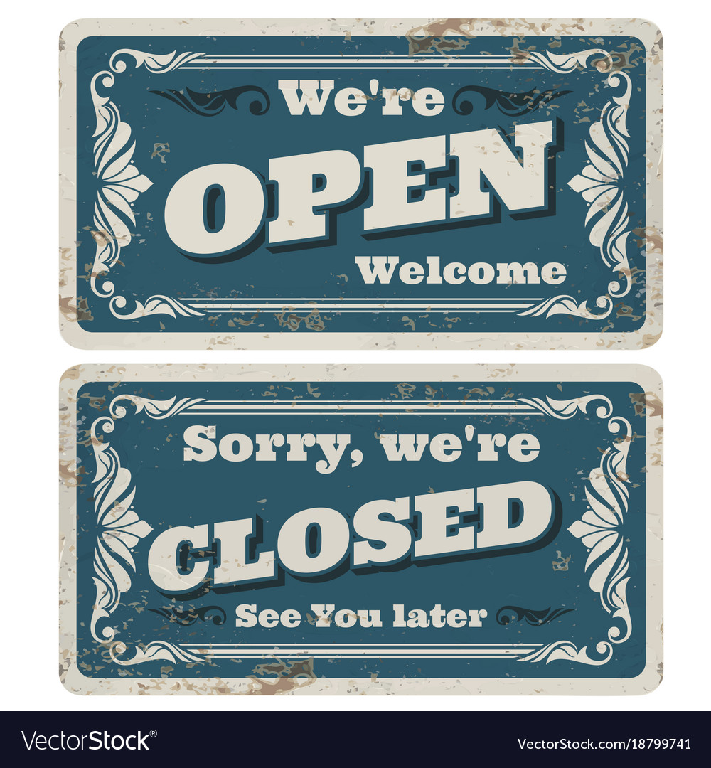 retro open and closed