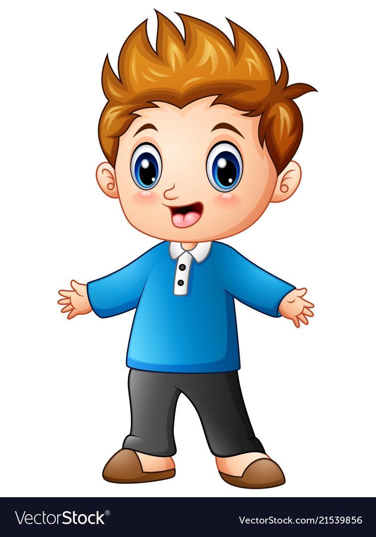 Boy Cartoon Images : cartoon, images, Little, Cartoon, Royalty, Vector, Image