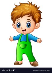 boy cartoon cute vector boys characters clipart royalty vectorstock drawing cartoons