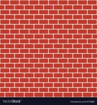 Brick pattern seamless red brick wall background Vector Image