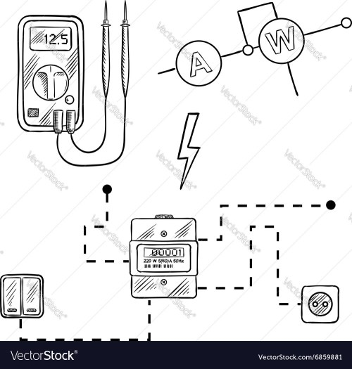small resolution of voltmeter electricity meter electrical circuit vector image