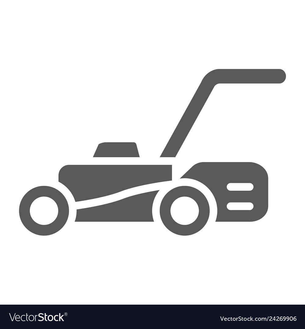 lawn mover glyph icon