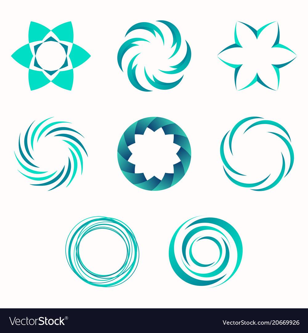 abstract geometric shapes symbols