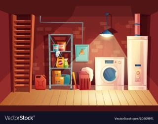 cartoon cellar laundry basement vector inside interior vs space crawl vectors musty differences illustration freepik particularities slab indianapolis leak ropa
