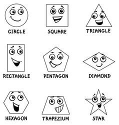 Cartoon basic geometric shapes Royalty Free Vector Image