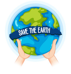 Draw Earth Hand Save Vector Images Over 750