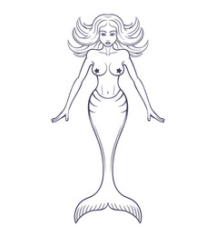 mermaid outlines vector images