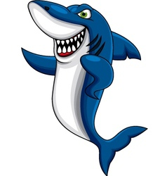 shark cartoon vector smiling angry marlin vectorstock dagadu royalty
