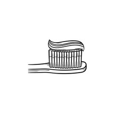 Toothpaste tube hand drawn outline doodle icon Vector Image