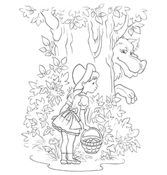 Fairy tale lumberjack coloring page Royalty Free Vector
