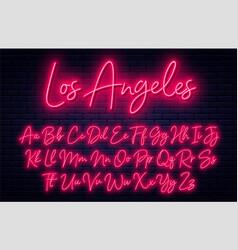 neon light font cursive