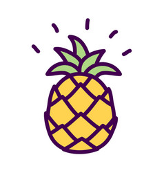 Pineapple Simple Drawing Vector Images over 410
