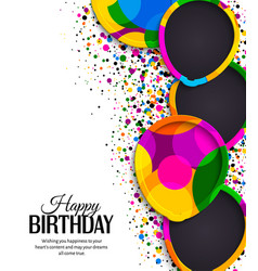 birthday card border vector images