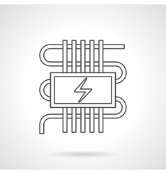 Electric heating system icon Royalty Free Vector Image