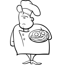 French baker cartoon Royalty Free Vector Image