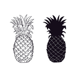 Pineapple Silhouette Vector Images over 1 400