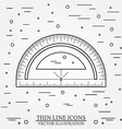 Protractor and rulers Royalty Free Vector Image