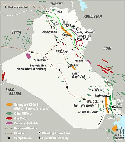 Iraq's enormous oil reserves