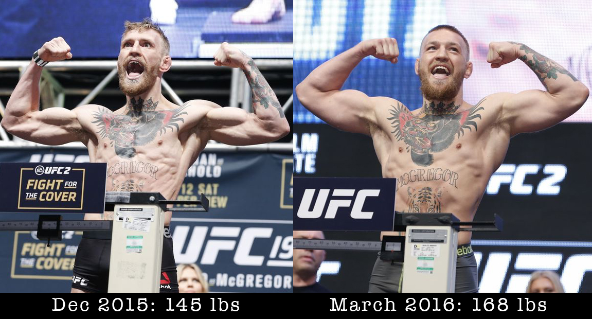 ufc 196 before and after conor mcgregor at featherweight vs welterweight bloody elbow